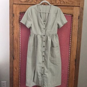 Cotton light green dress